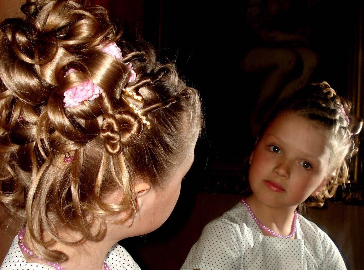 Вечерние прически для маленьких девочек
