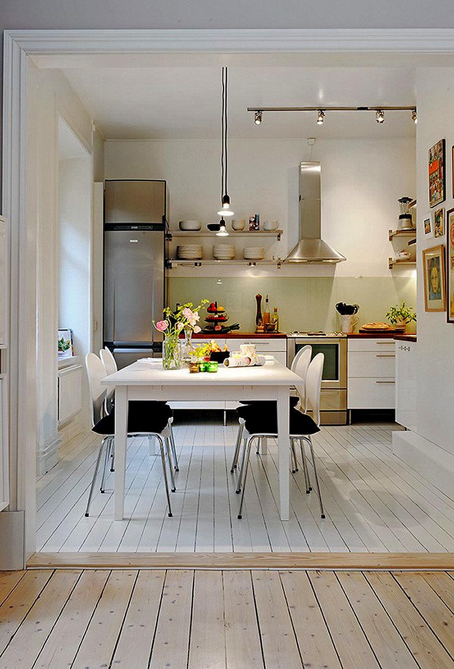 Интерьер кухни расширяем пространство