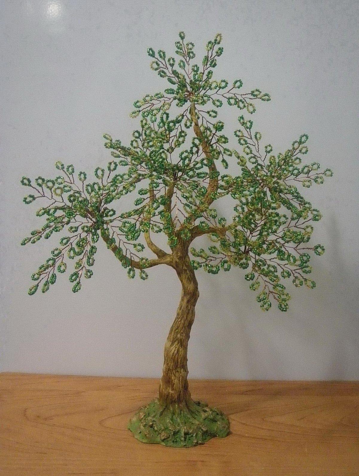Легкие деревья из бисера для начинающих своими руками 60