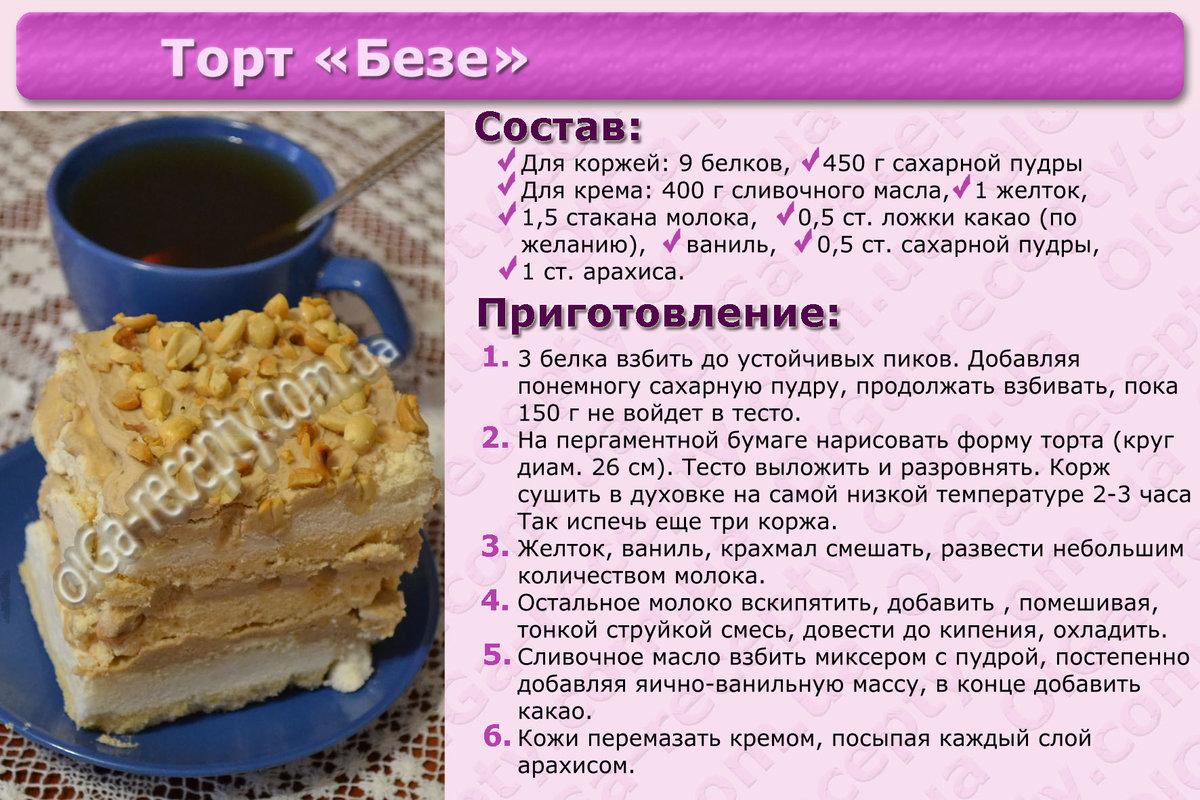Пошаговый рецепт бисквитный торт