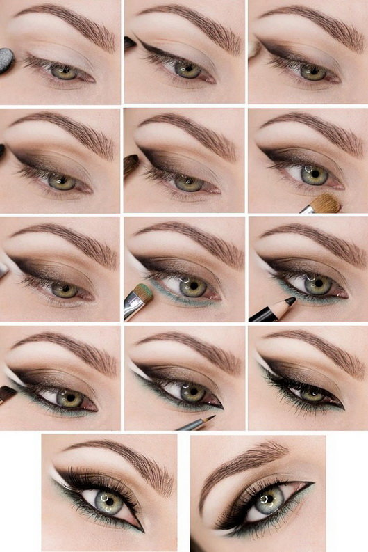 Как сделать повседневный макияж для карих глаз