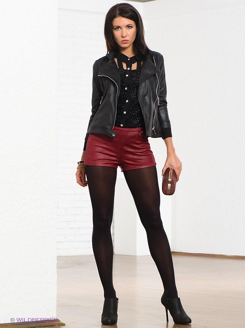 Женские кожаные шорты с чем носить женские