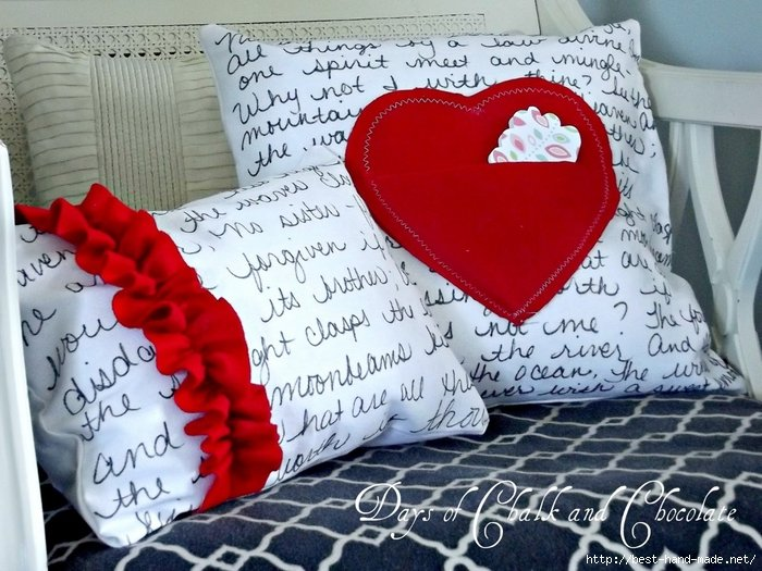 Подарок молодоженам подушка 19