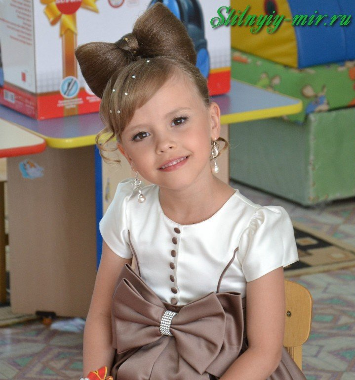 Детские высокие прически для девочек