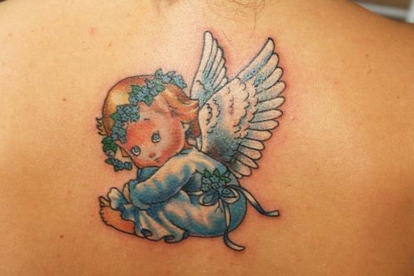 Маленькие тату с ангелами