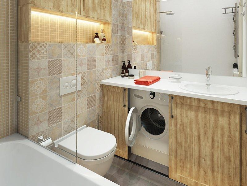 Дизайн ванной комнаты 4 кв м со стиральной машиной