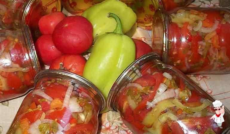 Салаты на зиму из помидоров самые вкусные рецепты с