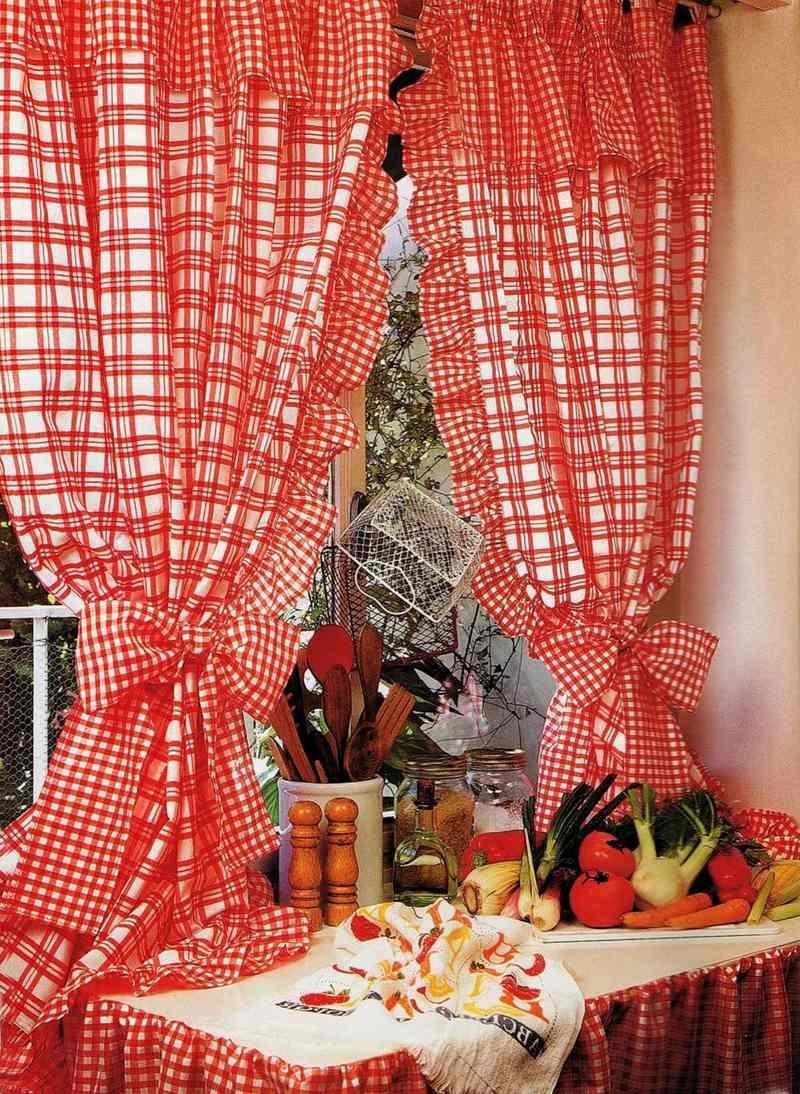 Выкройка штор для кухни своими руками фото