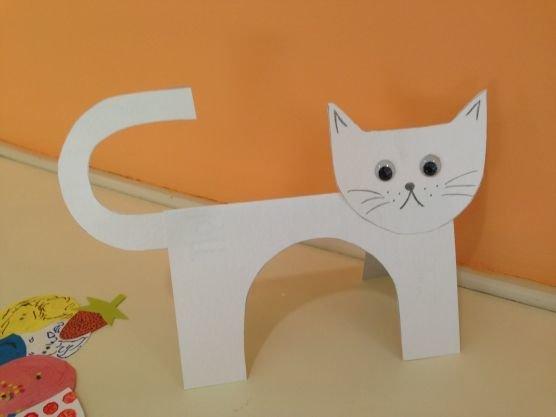 Детские поделки кошка своими руками 44