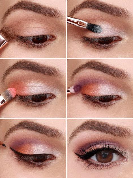 Лёгкий макияж для карих глаз пошаговое фото