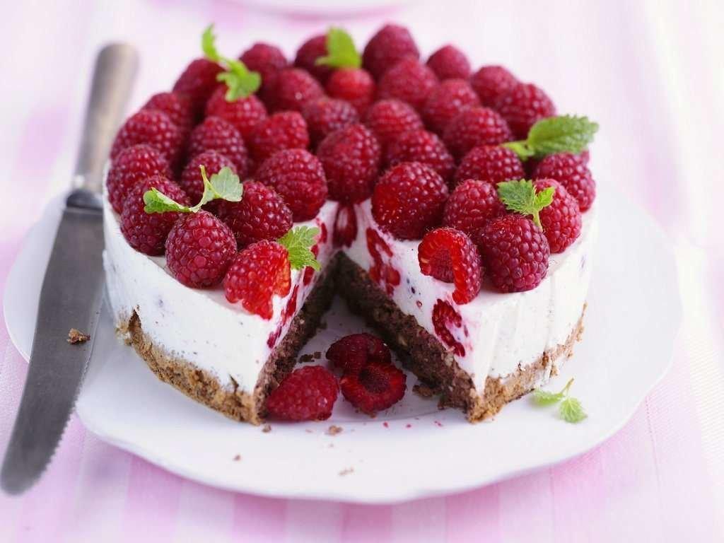 Как сделать малиновый торт летний в моей кофейне 244