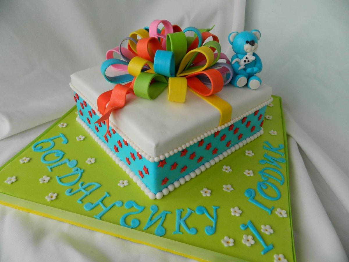 Торты в виде подарка фото