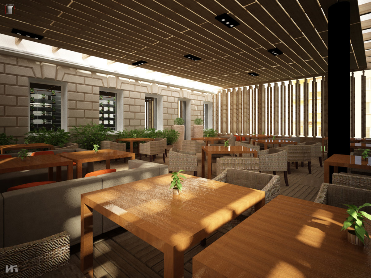 Проект дизайн ресторана