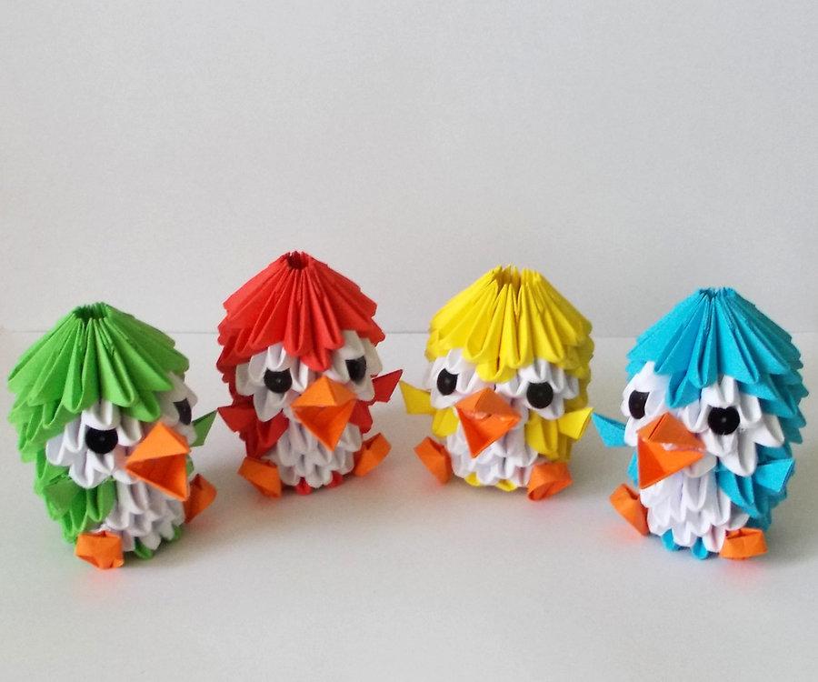 Поделки из модульного оригами схемы 90