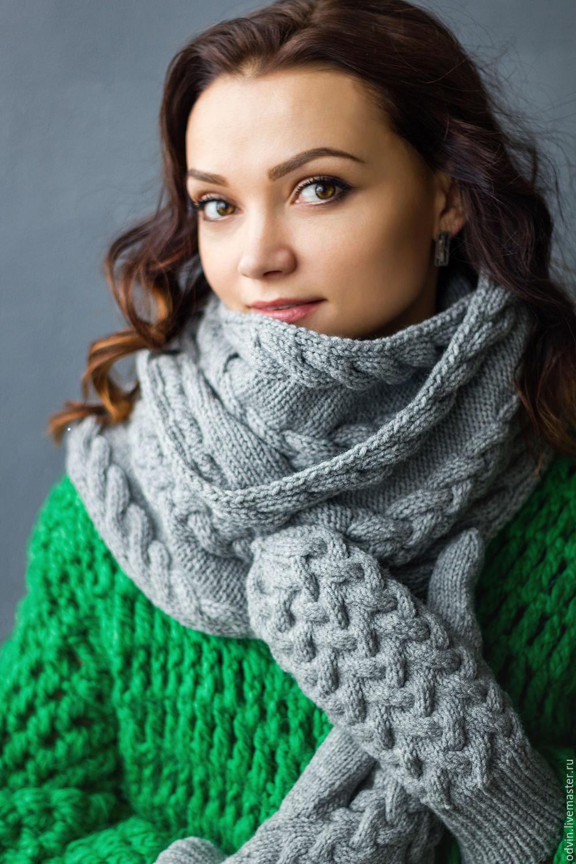 Вязание красивые женские шарфы 70