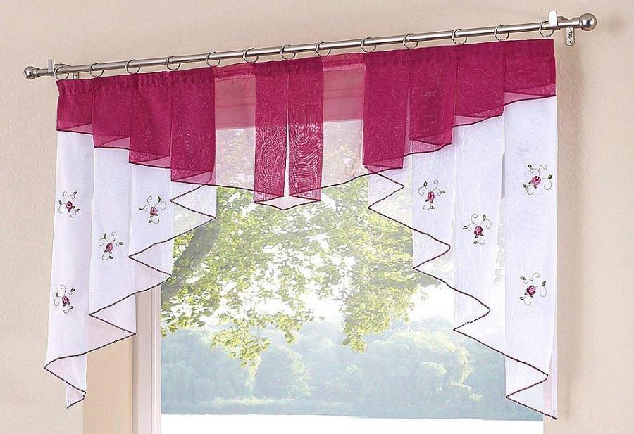 Сама сшила шторы на кухню 426