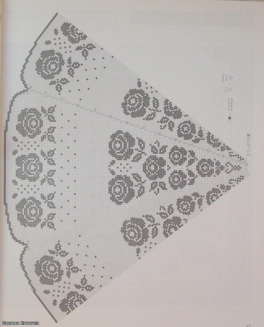 Круговое филейное вязание 96