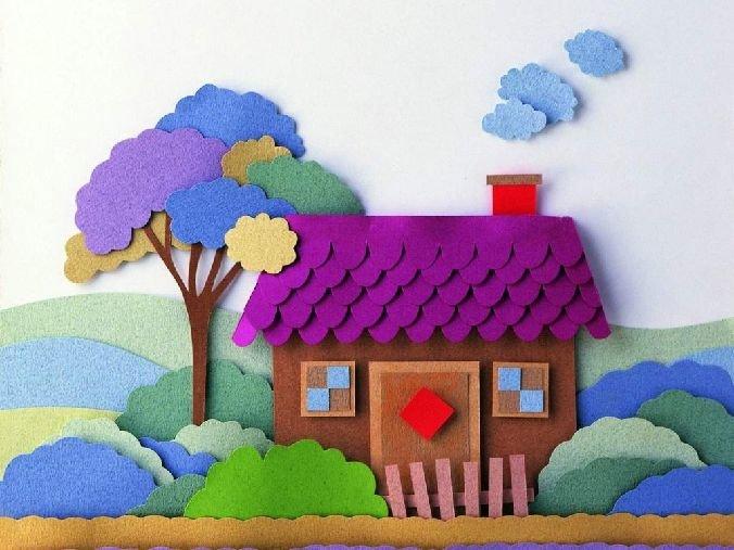 147Сделать с ребенком дом из бумаги