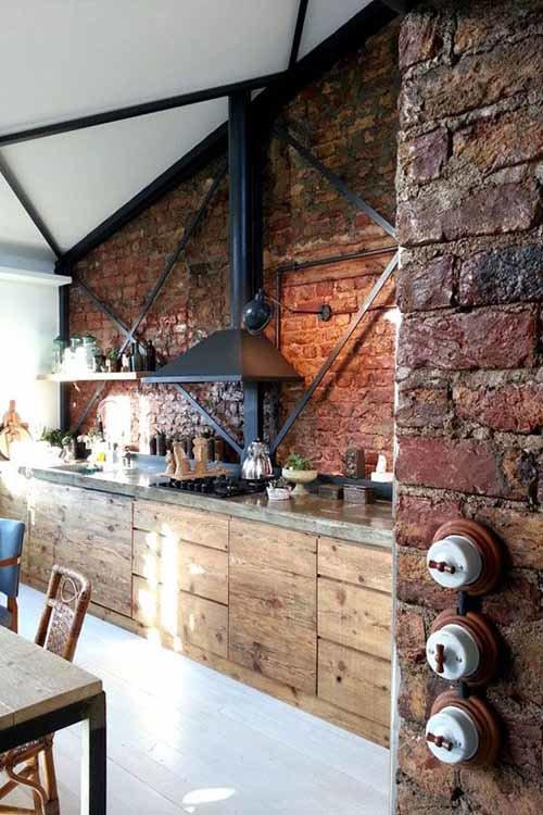Кухня с стиле лофт своими руками 97