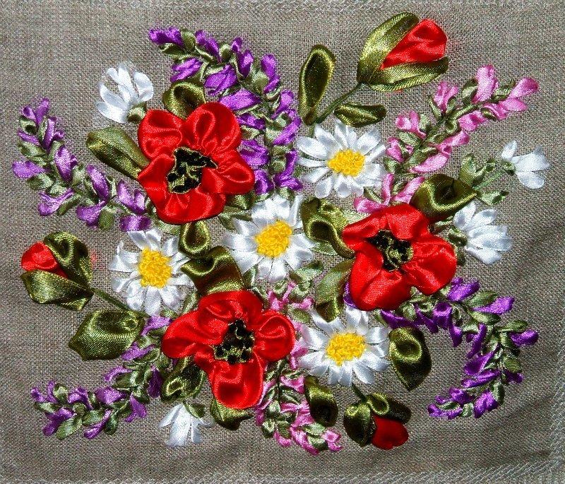 Вышивка атласными лентами не цветы 790