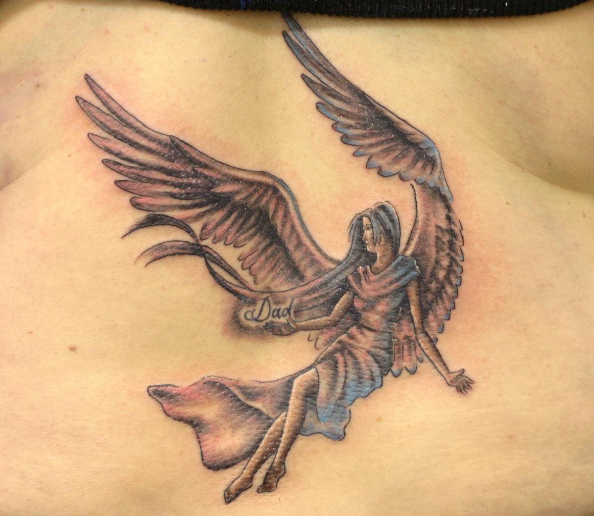Тату ангела с крыльями фото
