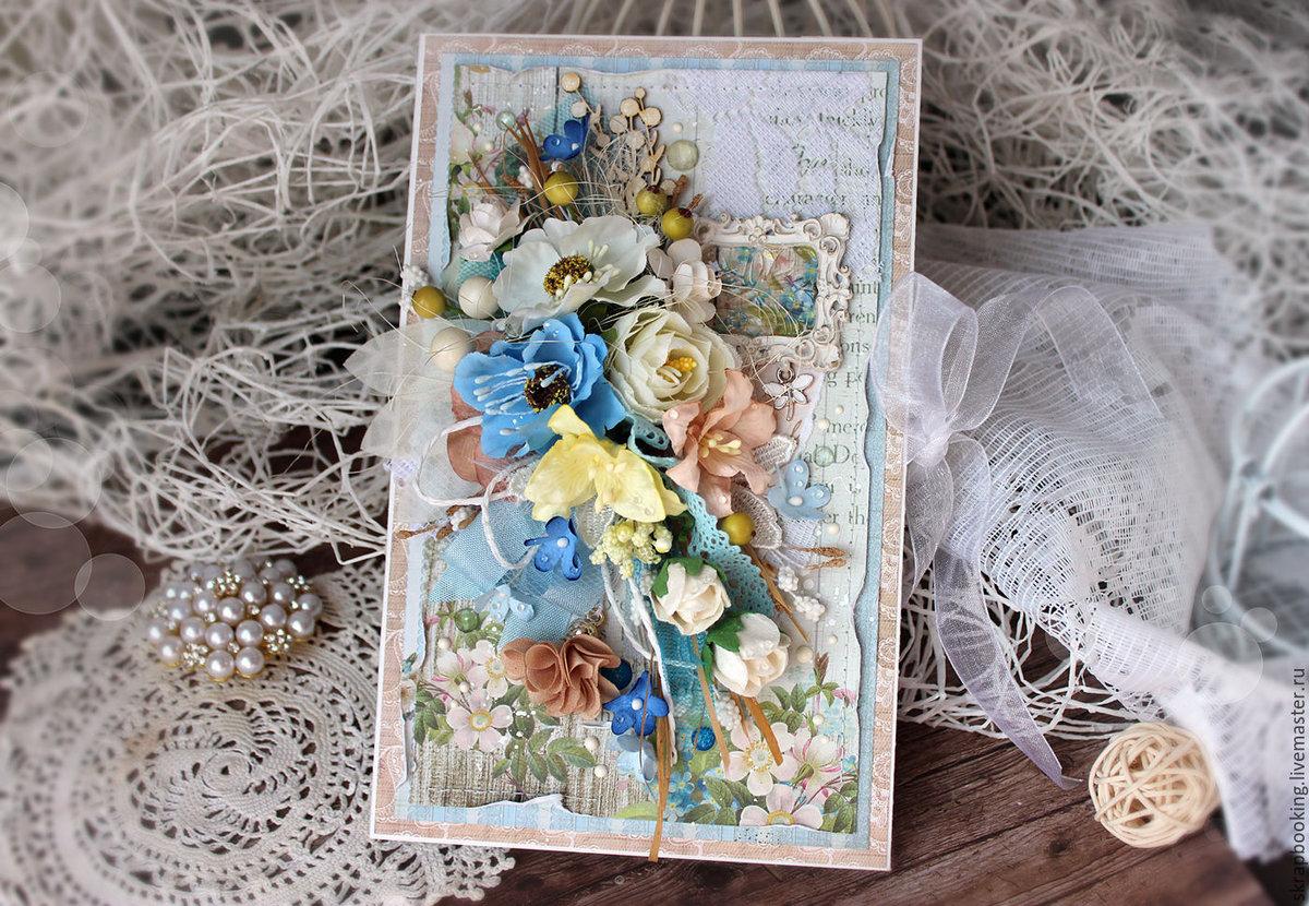 Скрапбукинг цветочная открытка 94
