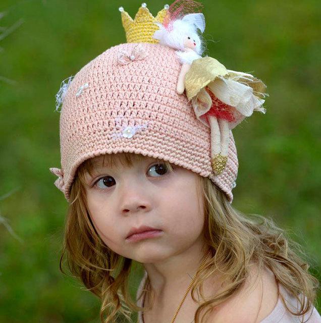Детские вязаные шапки для девочек спицами со схемами и