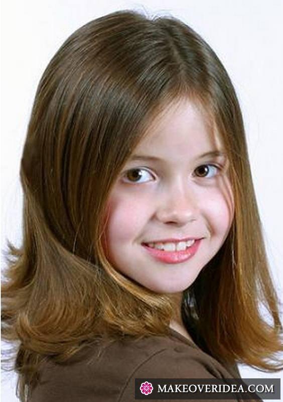 Фото подростковых стрижек для девочек на длинные волосы