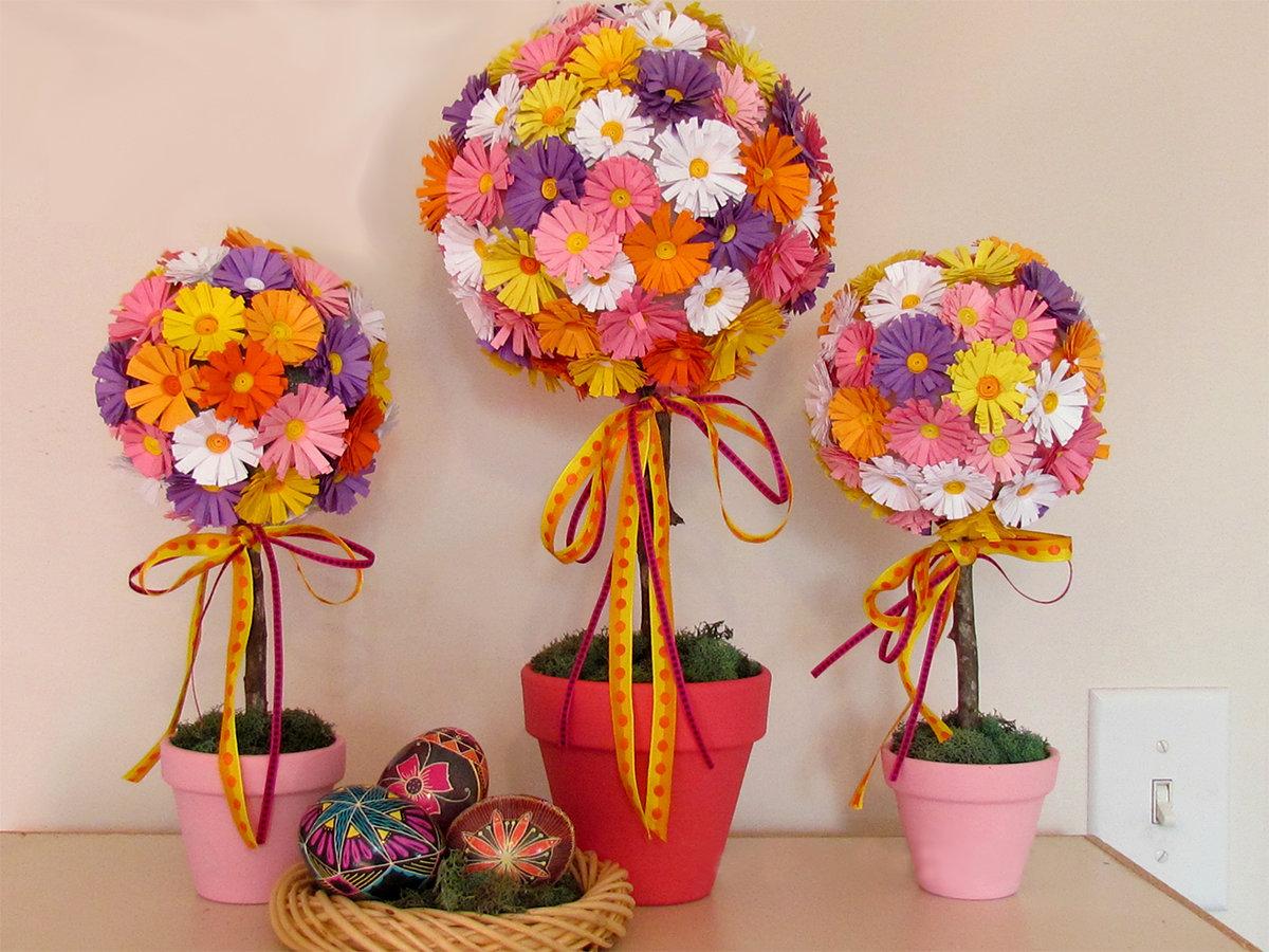 Цветы для топиарий своими руками для начинающих