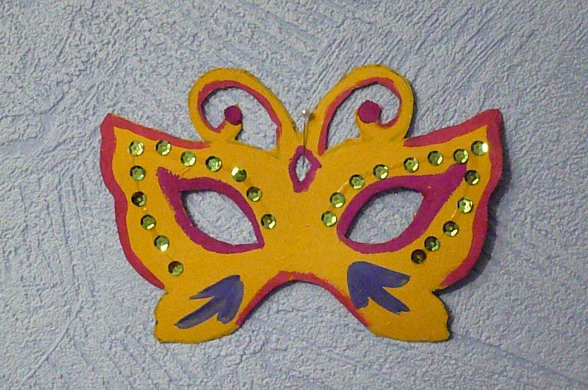 Как сделать маску из картона ребенку