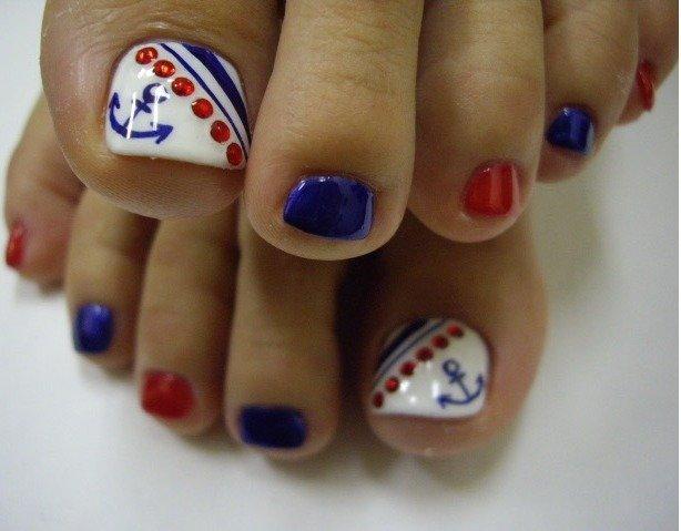 Идеи дизайна ногтей педикюр