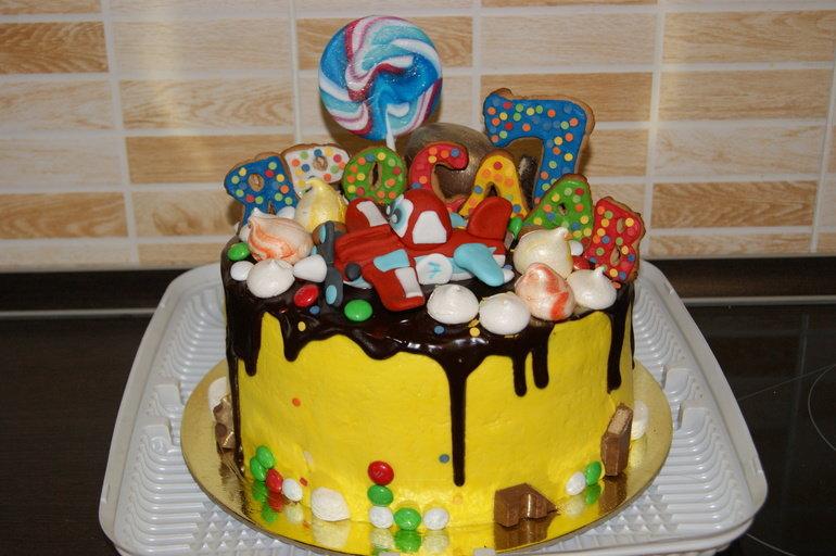 Украшение торта на день рождения ребенка своими руками 65