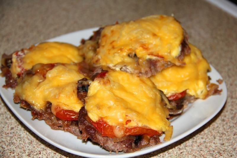 Рецепт мясо по-французски сметана