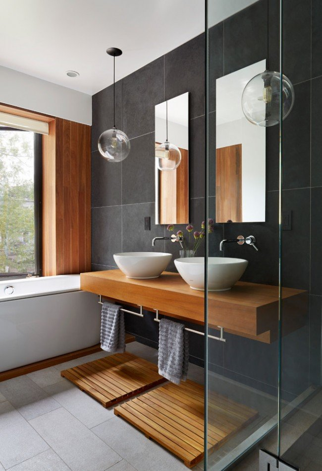 Фото дизайна ванной комнаты 2018