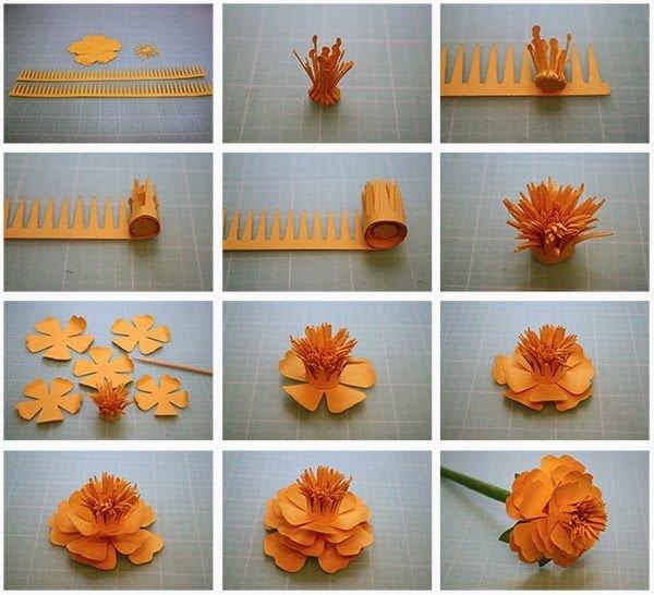 Как сделать 3д цветок из бумаги своими руками поэтапно