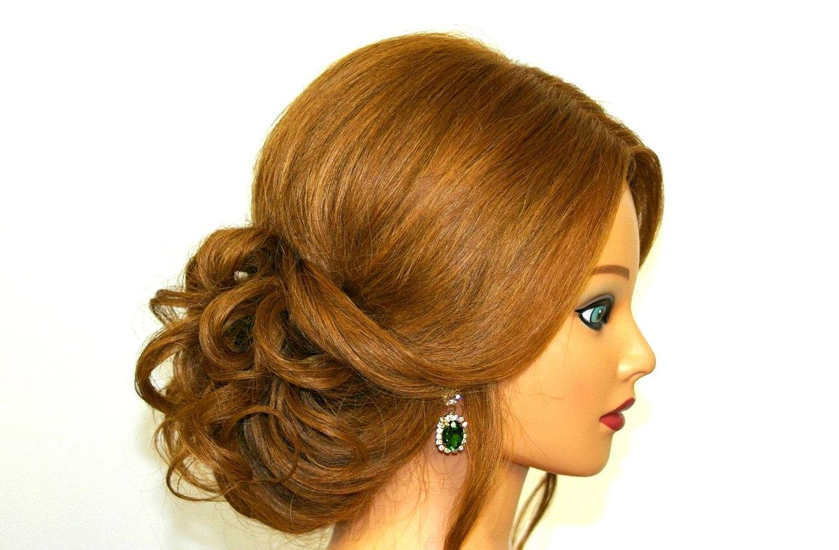 Средние волосы вечерние прически