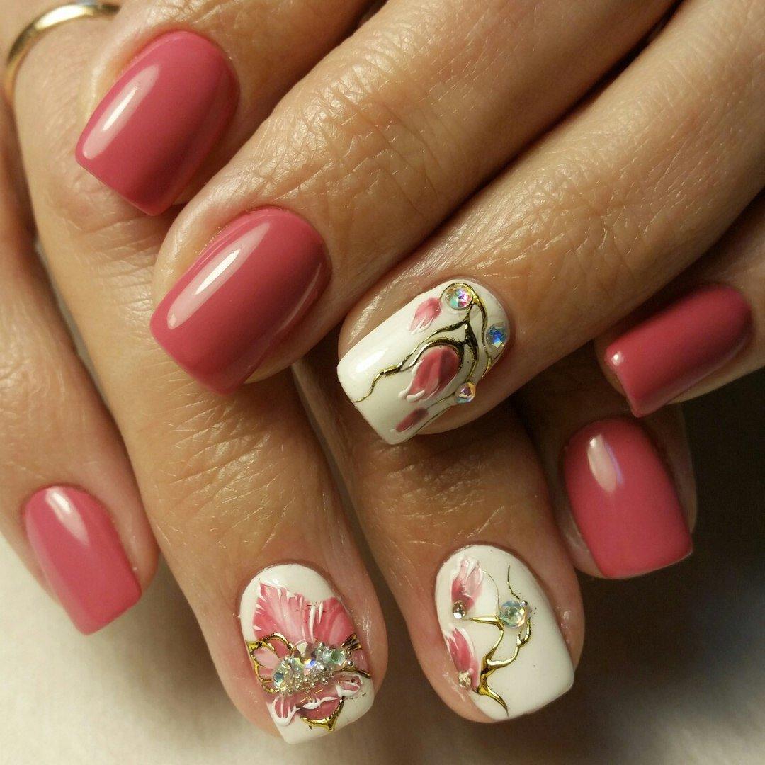 Дизайн ногтей с цветами 2018 новинки