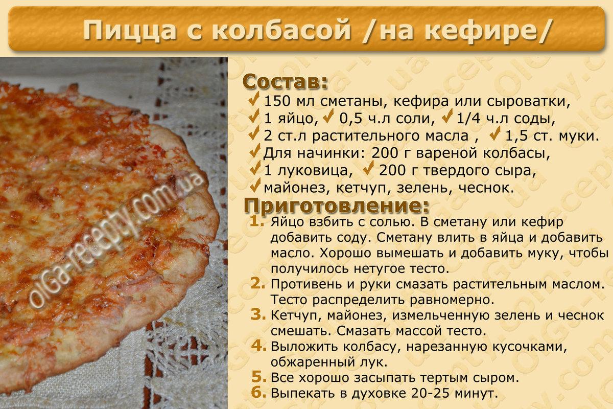 Тесто на пиццу без дрожжей на воде простой рецепт пошагово