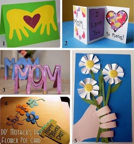 Открытка маме на день рождения своими руками от дочки 3 лет