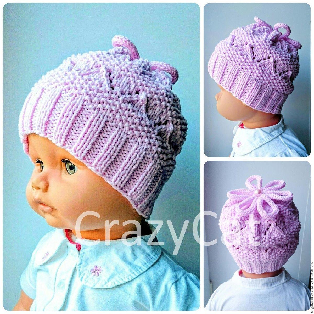 Вязание на спицах для девочек шапок