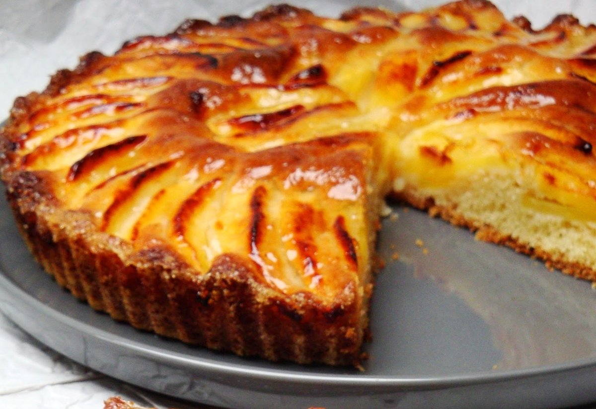 Рецепт яблочного пирога на кефире