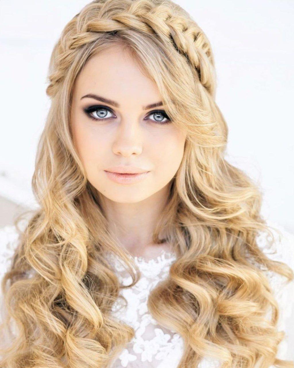 Прически на длинные волосы с косой и локонами фото
