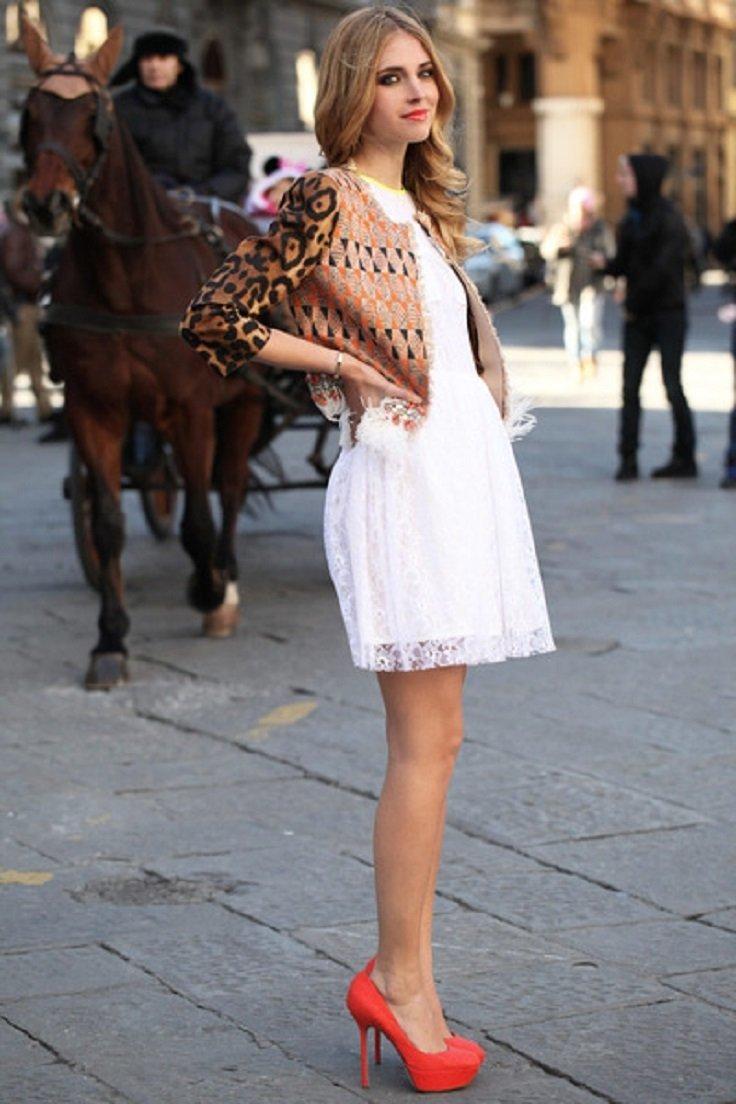 Летнее платье с туфлями