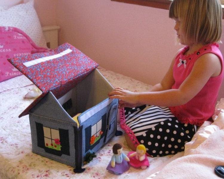 Мягкий домик для куклы своими руками 517