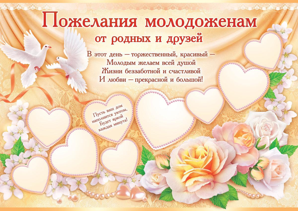 Пожелание для свадебной открытки 594