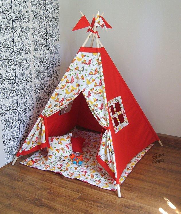 Палатка для ребенка своими руками из ткани 18
