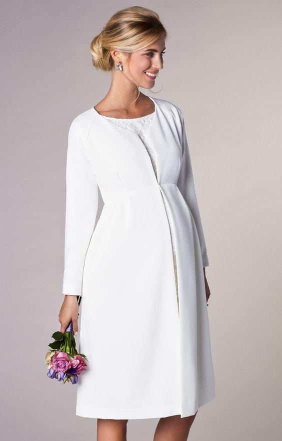 Фасоны свадебного платья для беременных 56