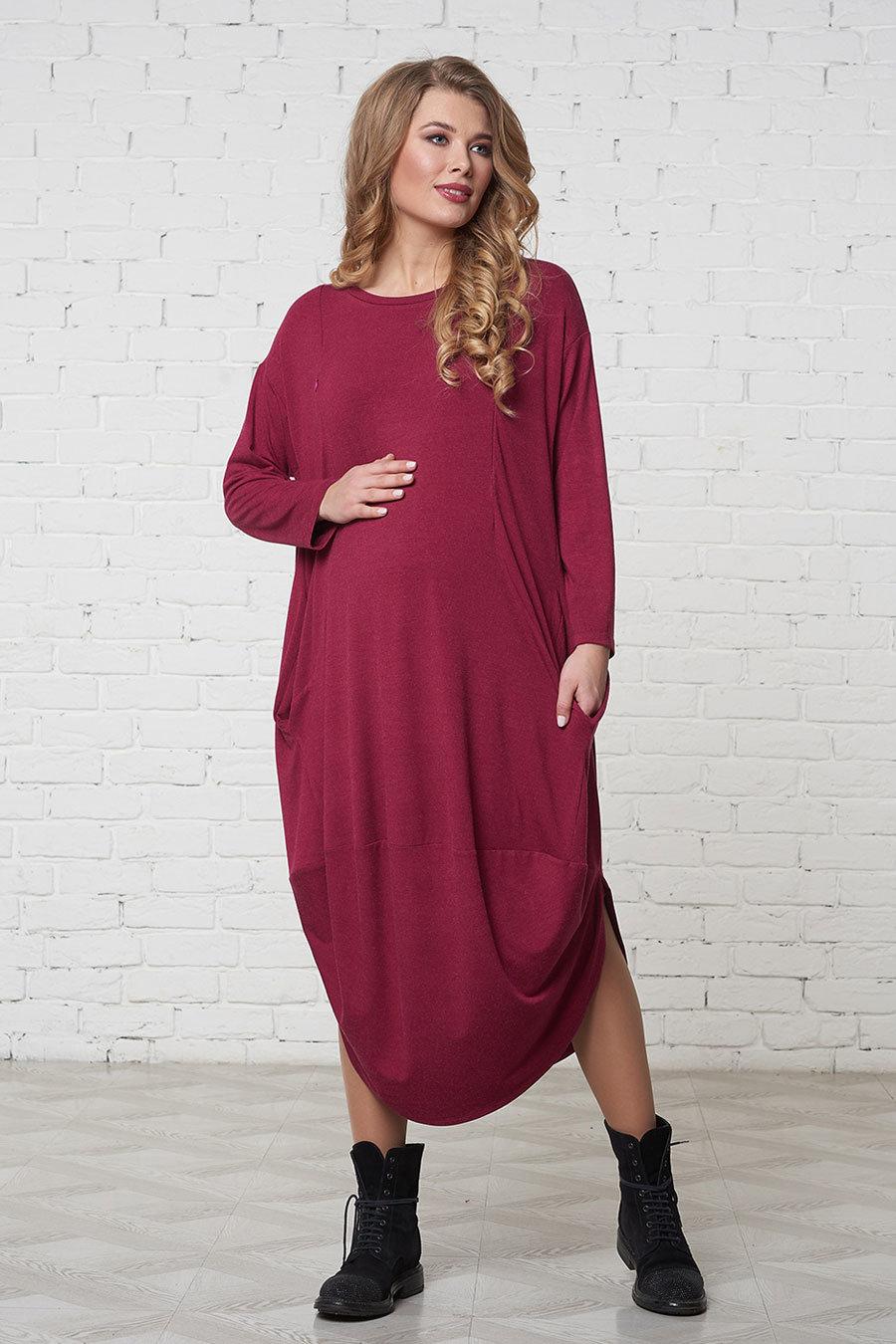 Платье закрытое для беременных 12