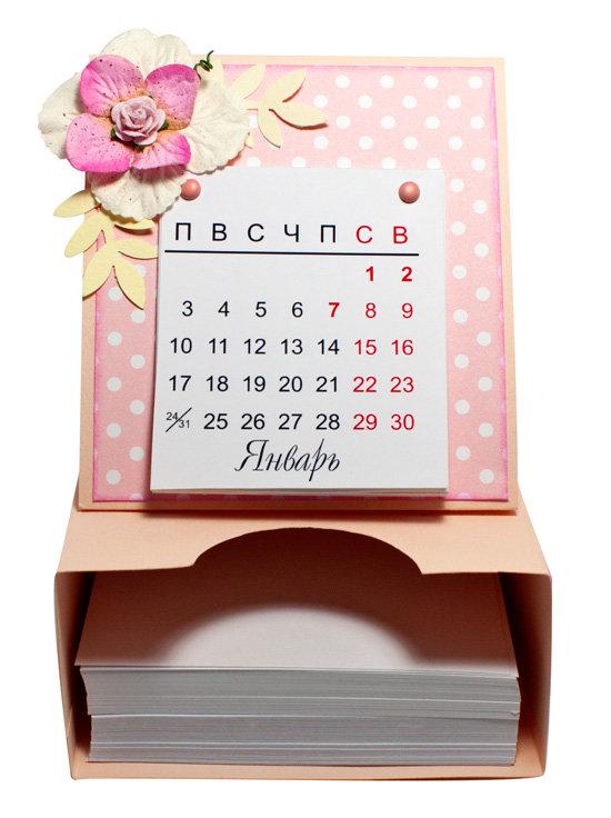Настольный календарь сделать своими руками 44