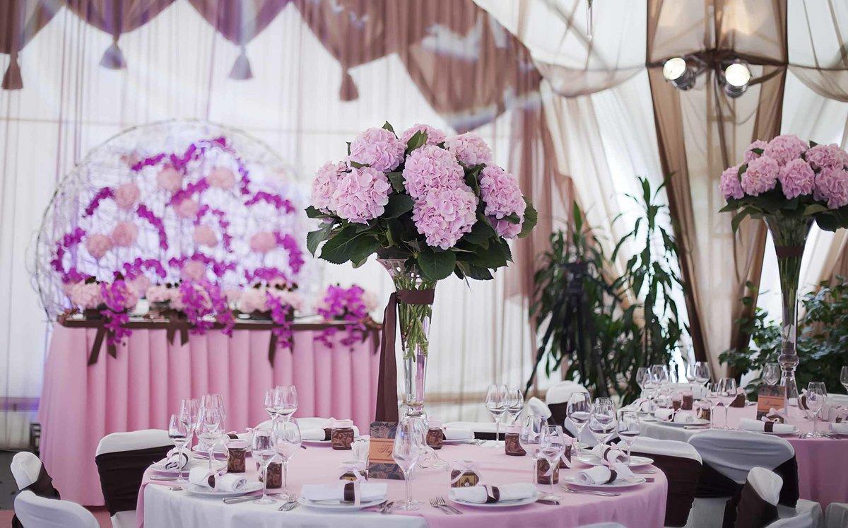 Украшения свадебных столов для гостей фото